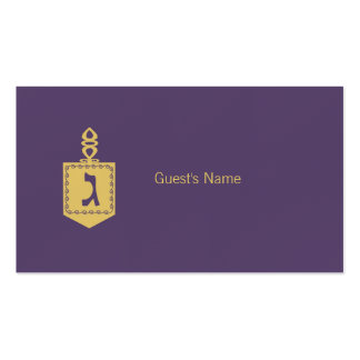 Tarjeta púrpura del lugar de Dreidel del adorno de Tarjetas De Visita
