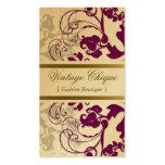 tarjeta púrpura del perfil del ciruelo floral del