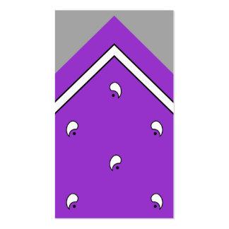 Tarjeta púrpura del truco del pañuelo/ tarjetas de visita