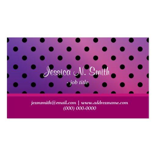 Tarjeta púrpura elegante del dotsbusiness de la tarjetas de visita