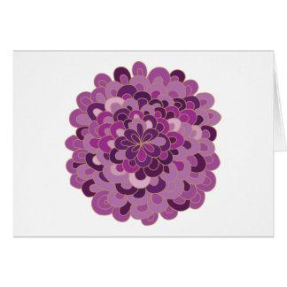 Tarjeta púrpura floreciente de la flor