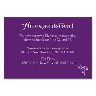 Tarjeta púrpura modificada para requisitos