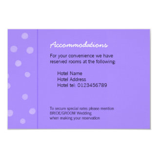 """Tarjeta púrpura pintada del recinto del boda de invitación 3.5"""" x 5"""""""