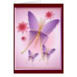 Tarjeta púrpura suave de la mariposa
