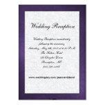 Tarjeta púrpura y blanca del recinto del boda plantilla de tarjeta de negocio