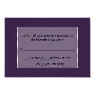 """Tarjeta púrpura y de plata de uso múltiple de la invitación 3.5"""" x 5"""""""