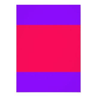 "Tarjeta púrpura y rosada de la herramienta viva invitación 5.5"" x 7.5"""