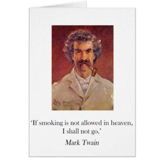 Tarjeta que fuma del tubo de Mark Twain