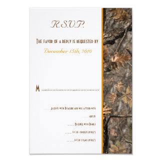 Tarjeta que se casa elegante de Camo RSVP del Invitaciones Personalizada