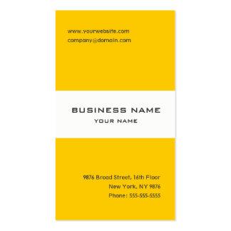 Tarjeta rayada amarilla y blanca de la mandarina d tarjetas de visita