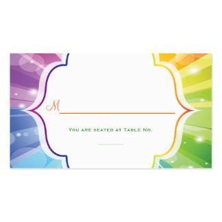 Tarjeta rayada del lugar de la recepción del respl tarjetas de visita