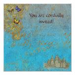 Tarjeta real de la invitación del castillo invitación 13,3 cm x 13,3cm