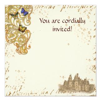 Tarjeta real de la invitación del castillo
