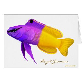 Tarjeta real de los pescados del arrecife de coral