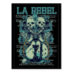 tarjeta rebelde del la tarjetas postales