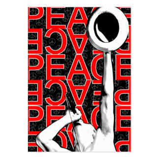"Tarjeta rechoncha de la ""paz roja"" tarjetas de visita grandes"