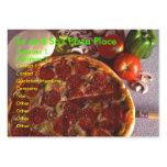 Tarjeta rechoncha de la pizza tarjetas de visita