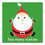 Tarjeta rechoncha de Navidad de la tarjeta de Invitación 13,3 Cm X 13,3cm
