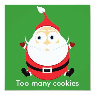"Tarjeta rechoncha de Navidad de la tarjeta de Invitación 5.25"" X 5.25"""