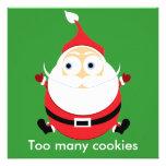 Tarjeta rechoncha de Navidad de la tarjeta de Navi Comunicado Personalizado