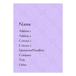 Tarjeta rechoncha del perfil de la atracción del tarjetas de visita grandes