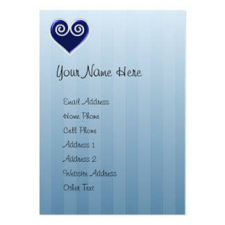 Tarjeta rechoncha del perfil del corazón azul de tarjetas de visita grandes