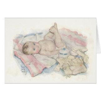 Tarjeta recién nacida del bebé