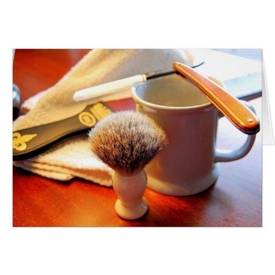 Tarjeta recta de la maquinilla de afeitar del