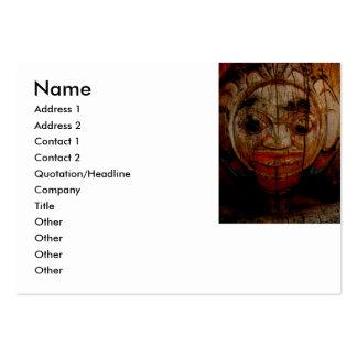 Tarjeta redonda del perfil del tótem de la cara tarjetas de visita grandes