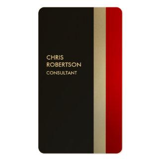Tarjeta redondeada personalizado gris rojo tarjetas de visita