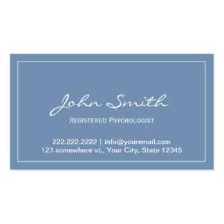 Tarjeta registradoa azul de la cita del psicólogo tarjeta de visita