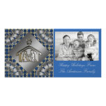 Tarjeta religiosa cristiana de la foto del navidad tarjetas fotograficas