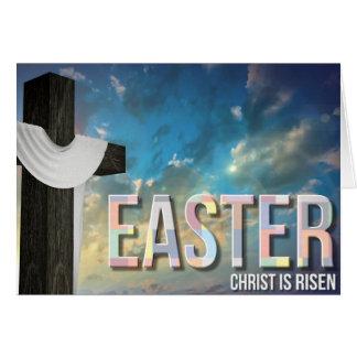 Tarjeta religiosa cruzada de Pascua