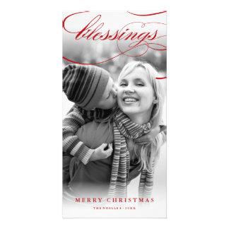Tarjeta religiosa de la foto del navidad de la tarjetas con fotos personalizadas