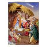 Tarjeta religiosa de Navidad de la natividad
