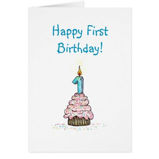 Tarjeta religiosa del primer cumpleaños