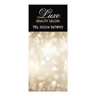 Tarjeta reluciente del estante del diseño del oro lonas personalizadas