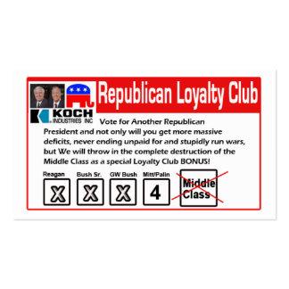 Tarjeta republicana del club de la lealtad plantilla de tarjeta personal