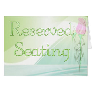 Tarjeta reservada de la muestra del asiento