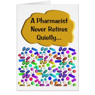 Tarjeta reservada del farmacéutico