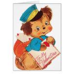 Tarjeta retra adorable del el día de San Valentín