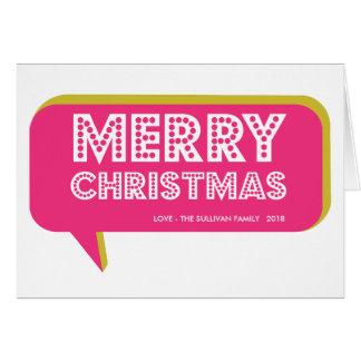Tarjeta retra colorida de las Felices Navidad de l