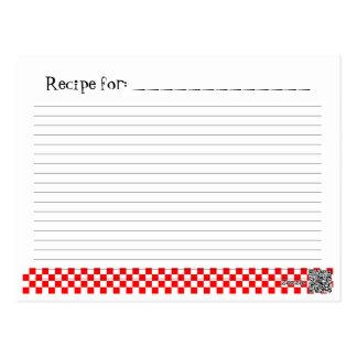 Tarjeta retra de encargo de la receta del mago de tarjeta postal