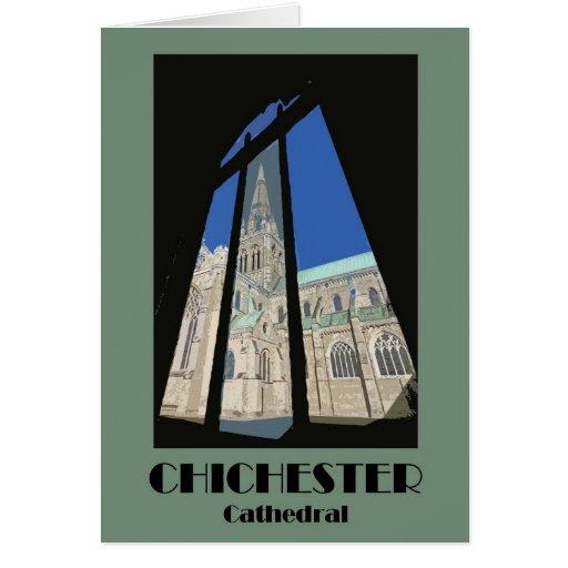 Tarjeta retra de la catedral 1920s-style de Chiche