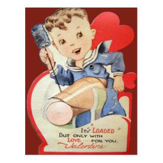 Tarjeta retra de la tarjeta del día de San Tarjeta Postal