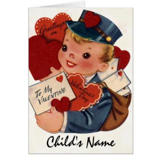 Tarjeta retra de la tarjeta del día de San Valentí