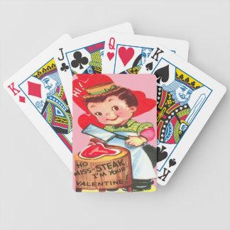 Tarjeta retra de la tarjeta del día de San Valentí Baraja Cartas De Poker