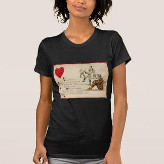 Tarjeta retra de la tarjeta del día de San Valentí Tee Shirt