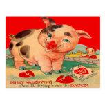 Tarjeta retra de la tarjeta del día de San Valentí Postales