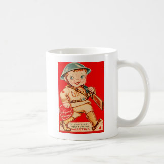 Tarjeta retra de la tarjeta del día de San Valentí Taza De Café